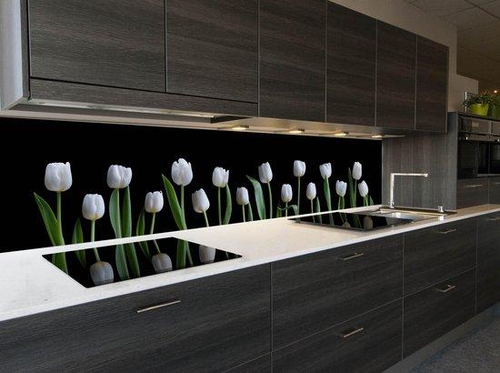 Wonderbaarlijk bol.com   Keuken achterwand behang: -White Tulips- 400x70 cmn WH-18