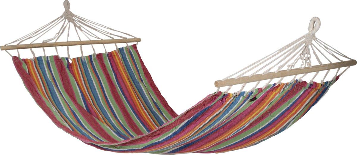 Bo-Camp Hangmat Samba - Met Spreidstok - Rainbow