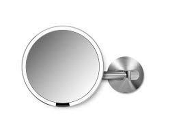 Simplehuman Spiegel Sensor met Wandbevestiging - Netstroom - Mat