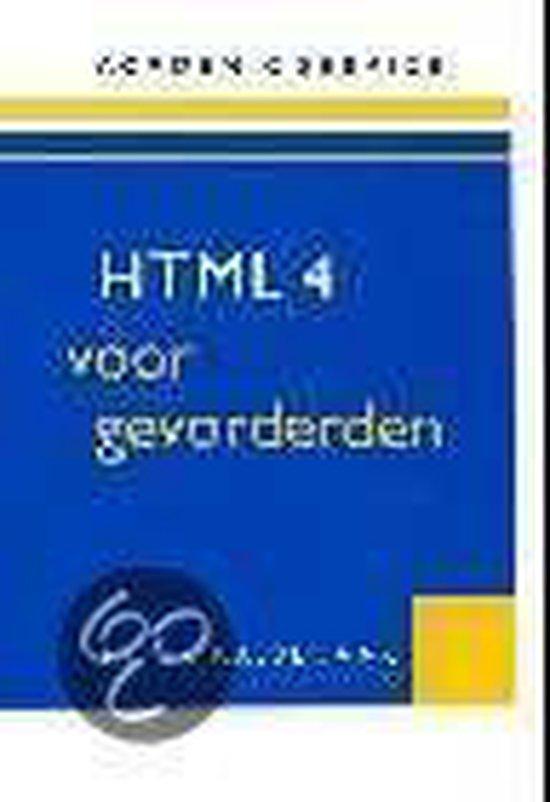 HTML 4, voor Gevorderden - Kassenaar Peter |