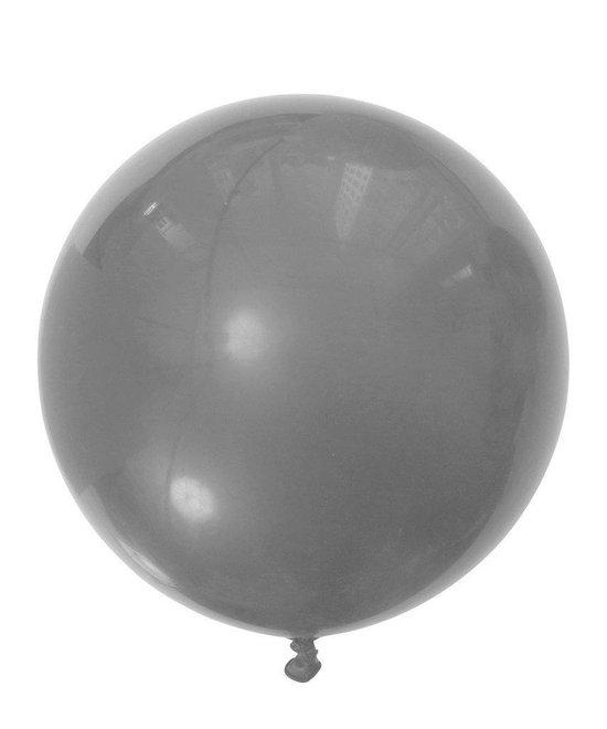 MEGA Topping ballon 90 cm Zilver