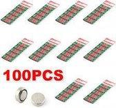 100 Stuks AG4 / SR626SW Horloge Batterijen Huismerk®