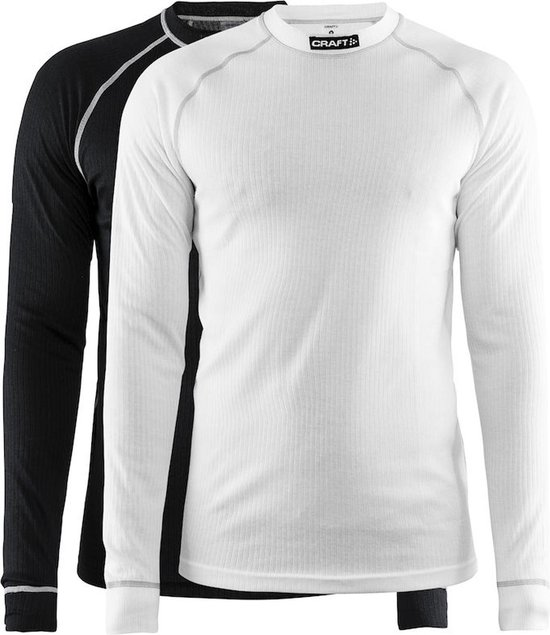 Craft Active 2-Pack Tops Thermoset Heren - Black/White