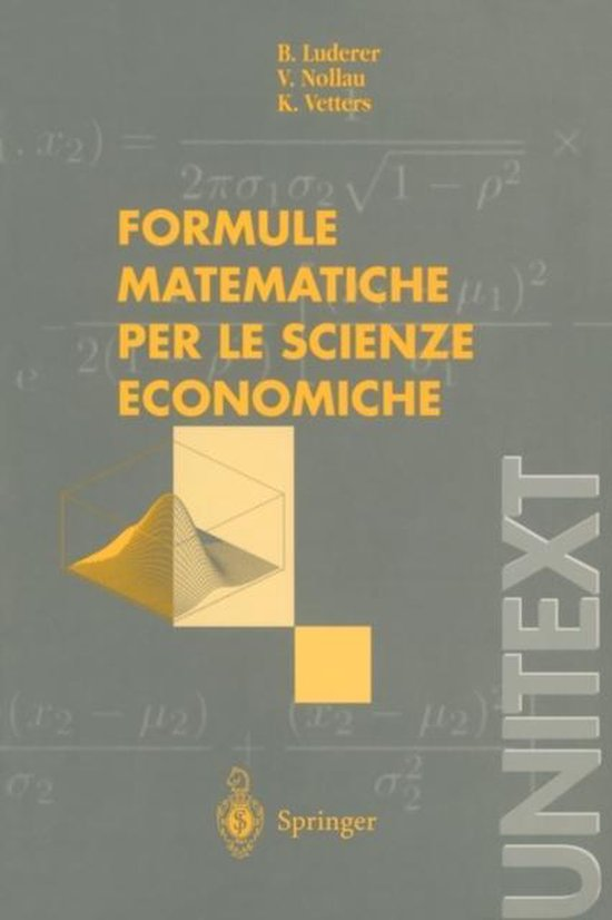 Formule Matematiche Per Le Scienze Economiche