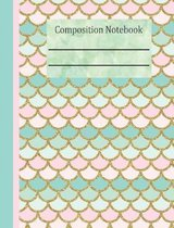 Mermaid Tail Composition Notebook - 5x5 Graph Paper