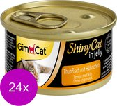 Shinycat Kattenvoer - Tonijn/Kip - 70 gr – 24 stuks