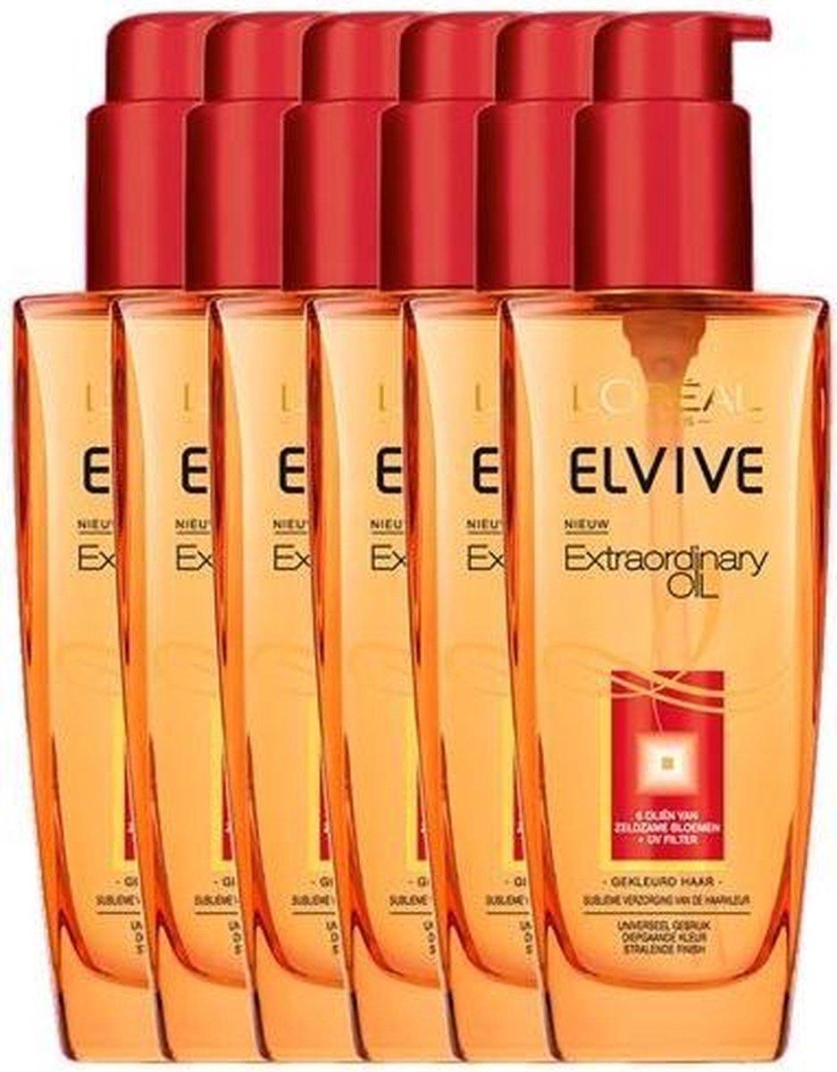 L'Oréal Paris Elvive Extraordinary Oil Haarolie - 6 x 100 ml - Gekleurd Haar - Voordeelverpakking - L'Oréal Paris