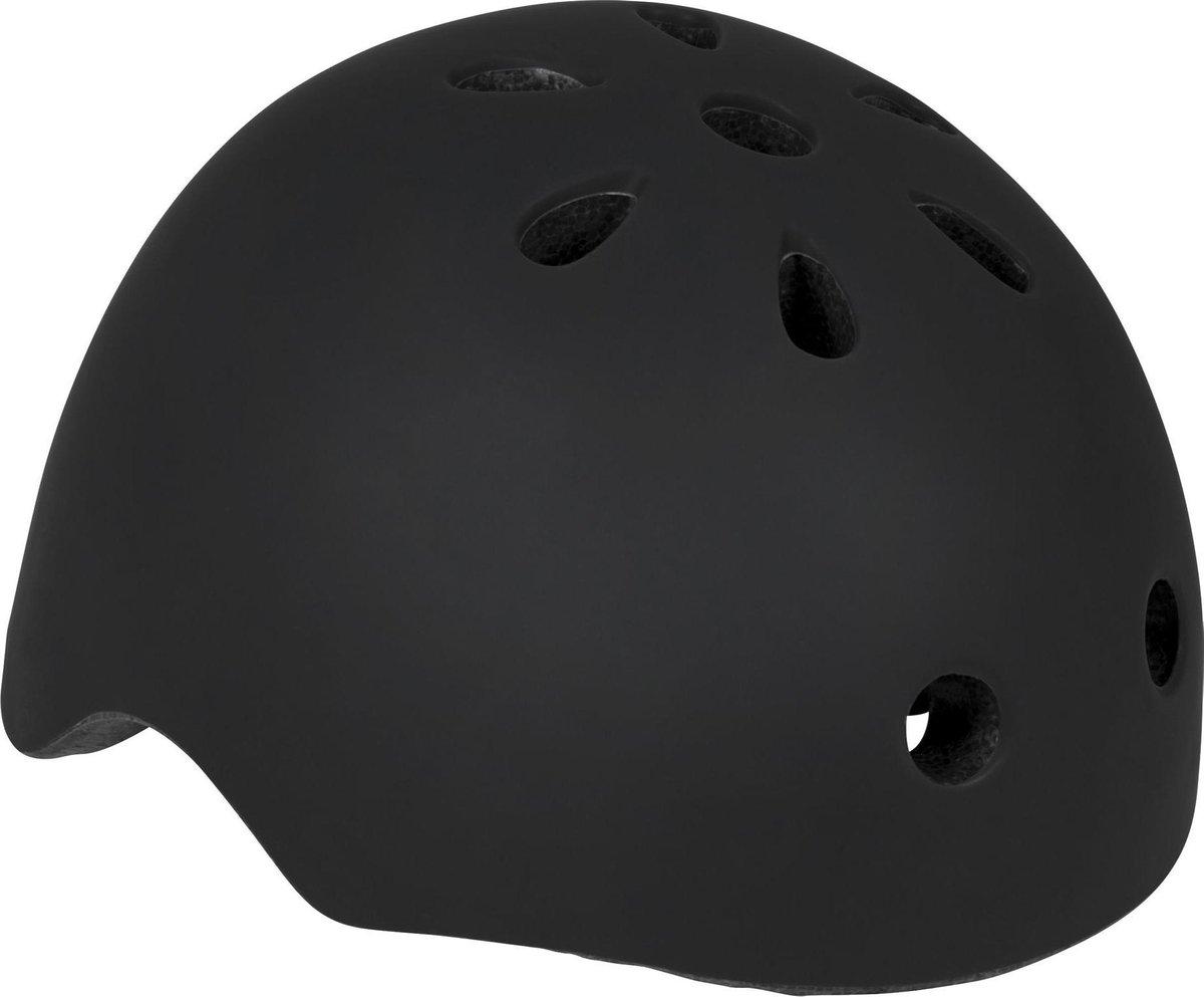 Powerslide Allround Adventure Skatehelm Junior Sporthelm - Unisex - zwart Maat 50-54