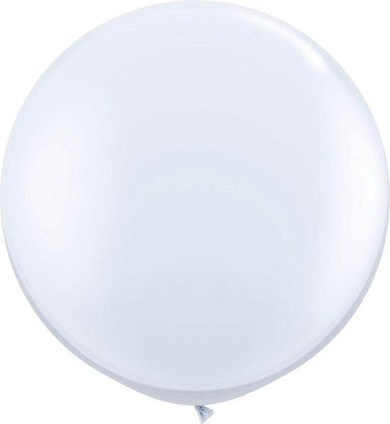 Witte ballon XL - 90cm