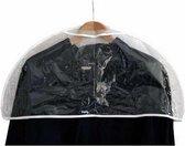 Set van 10 schouder kledinghoezen ter bescherming van kwetsbare kleding - Transparant