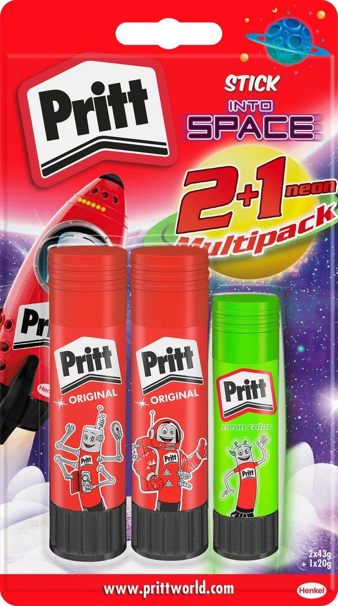 Pritt Stick 2x43g + 1x20g gratis neon BTS 2018 2x43+1x20 gr - Pritt