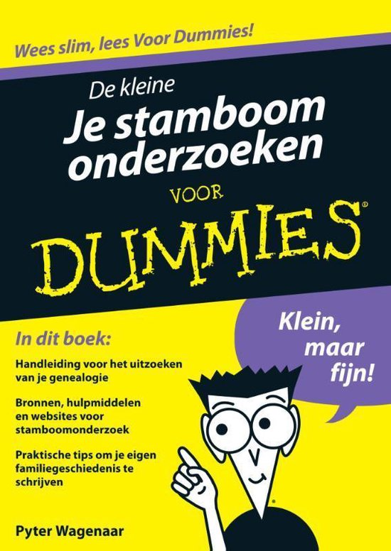 De kleine Je stamboom onderzoeken voor Dummies - Pyter Wagenaar |