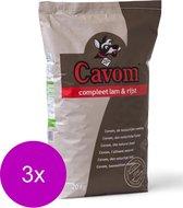 Cavom Compleet Adult Lam&Rijst - Hondenvoer - 3 x 20 kg