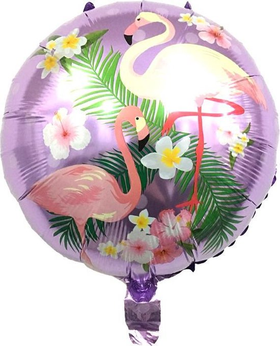 Folieballon Flamingo Paars