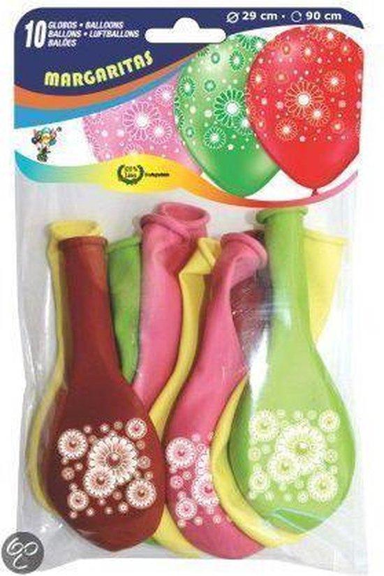 Ballonnen met bloemen print
