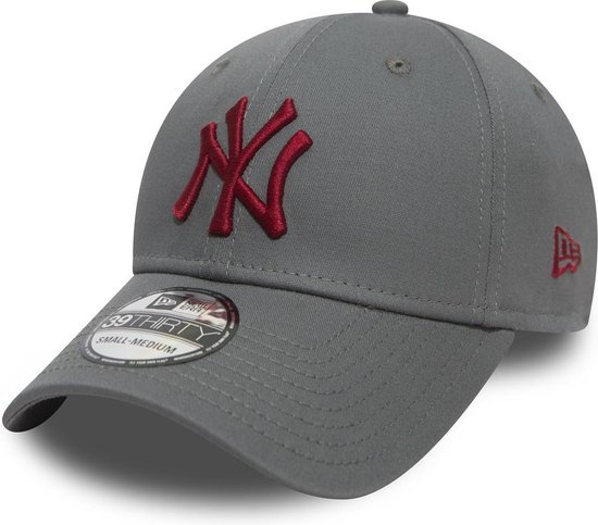 New Era MLB League Essential New York Yankees Cap - 39THIRTY - L/XL - Grey Med - New Era