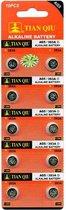 Ag 5 batterijen |Strip 10 stuks (ook bekend als AG5, LR754, G5, LR48, 193, 393) knoopcel batterijen