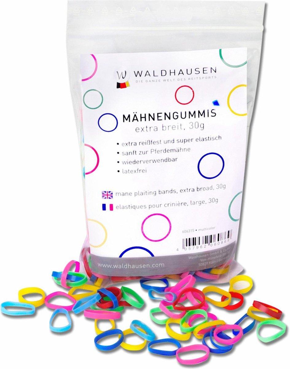 Waldhausen Elastiekjes Zak - Paardenverzorging -  15x3 mm 30 g Multi-Color