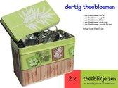 Dertig theebloemen in Theeblik Zen (2 blikjes)