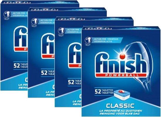 4x 52 stuks Finish Classic Multipack