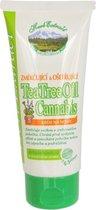 HERB EXTRACT® Cannabis Voetcrème met Tea Tree Olie - 100ml - heeft een verzachtende, reinigende en ontsteking werende werking. Beschermt tegen schimmels, laat de huid vrij van geur en irritatie.