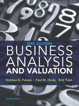 Boek cover Business Analysis and Valuation van Erik Peek (Paperback)