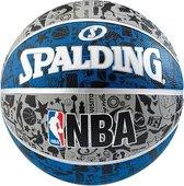 Basketbal outdoor Spalding graffiti maat 7