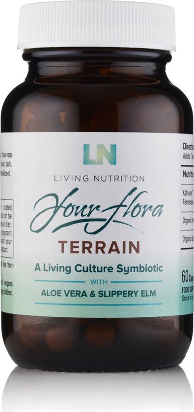 Living Nutrition / Terrain Gefermenteerde Aloë & Gladde iep Capsules – Bio 60 stuks