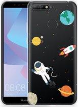Huawei Y6 2018 Hoesje Astronaut
