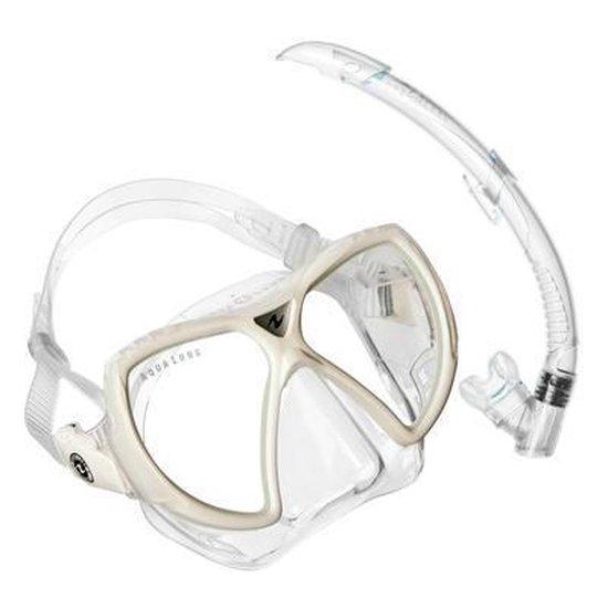 Aqua Lung Sport Oyster LX + Airflex Purge LX - Snorkelset - Volwassenen - Arctic Wit - Aqua Lung Sport