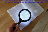 Leesloep- vergroot 3.5 x incl. LED-verlichting 6 Leds - Senioren leeslamp - Lees vergrootglas - Universele vergrotende 3.5 x leesloep met led verlichting 6 leds - leesloep - vergrootglas leeshulp met led verlichting - leeshulp - 50 plus hulp