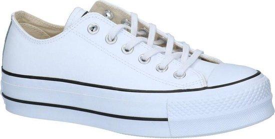 Witte Lage Geklede Sneakers Converse Chuck Taylor All Stars