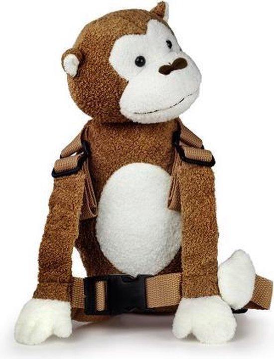 Goldbug - Harness Buddy kindertuigje - Knuffel rugzakje met looplijn - Looptuigje Aap - Tuigje Kind