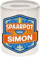 Kinder spaarpot voor Simon - keramiek - naam spaarpotten