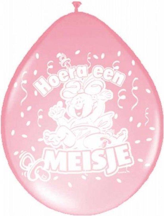 8x Ballonnen geboorte meisje baby thema - versieringen - kraamfeest / babyshower