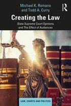 Omslag Creating the Law