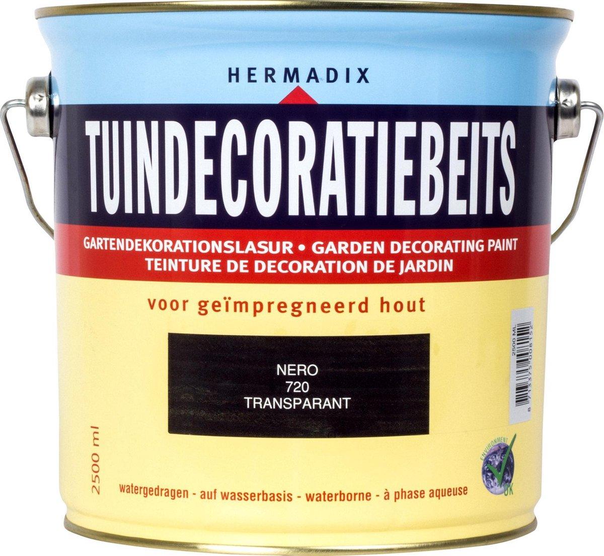 Hermadix Tuindecoratiebeits 720 Nero - 2.5 l