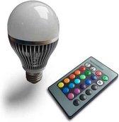 LED RGB lamp E27 - 2 Stuks - met afstandsbediening