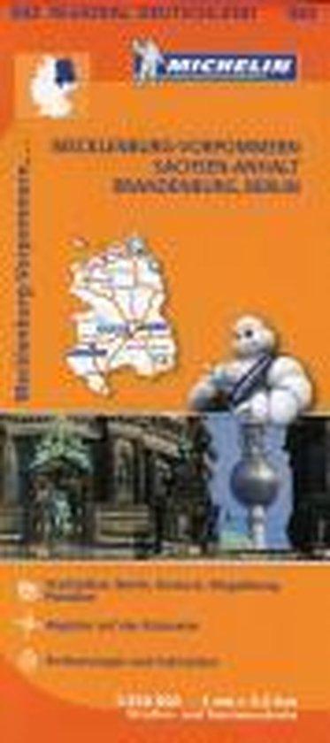 Michelin Regionalkarte Mecklenburg-Vorpommern / Sachsen-Anhalt / Brandenburg / Berlin 1 : 350 000