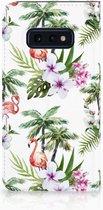Samsung Galaxy S10e Standcase Hoesje Design Flamingo Palms