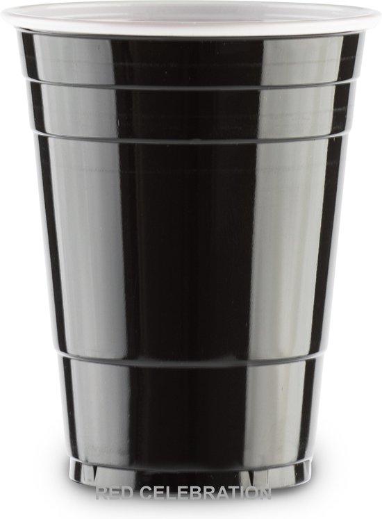 Afbeelding van het spel 100 Black Cups American original - 500ml Zwarte Party Bekers - Beer Pong
