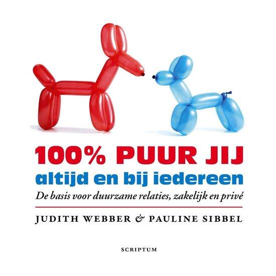 Cover van het boek '100 procent puur jij' van Judith Webber