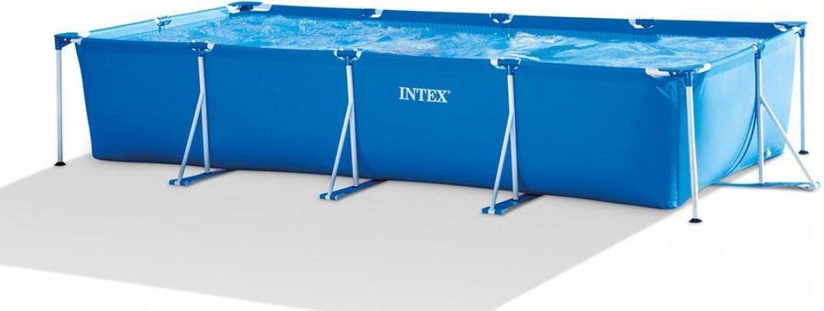 Intex Zwembad Frame 450 x 220 x 84 cm - Opzetzwembad - Stevig Frame - Groot formaat - Rechthoekig