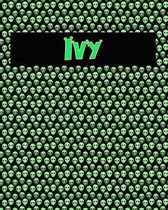 120 Page Handwriting Practice Book with Green Alien Cover Ivy