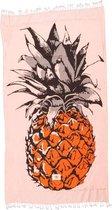 Mycha Ibiza – strandlaken – strandhanddoek – kikoy – ananas – oranje – 100% katoen