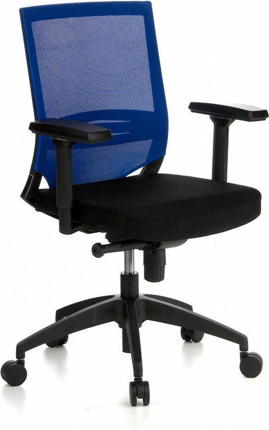 hjh office Porto Base - Bureaustoel - Meshstof - Zwart / blauw