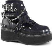 Demonia Enkellaars -40 Shoes- EMILY-317 US 10 Zwart