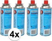4x Kookstel gasflessen butaan gas - 4 stuks a 227 gram - gasbus navulling - Blauw