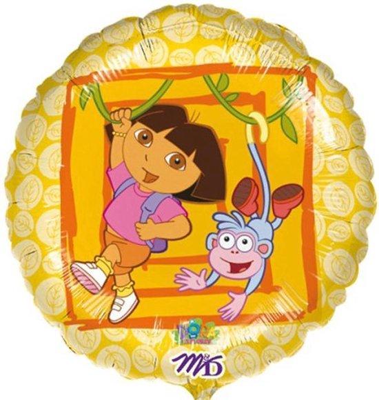 Folieballon Dora geel
