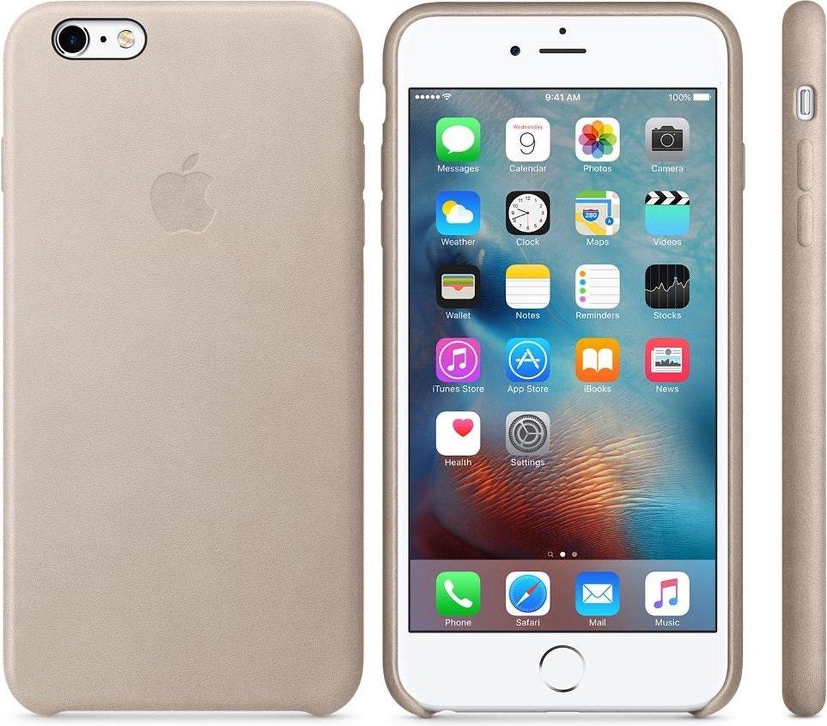 Apple Leren Hoesje voor iPhone 6/6s Plus - Stone